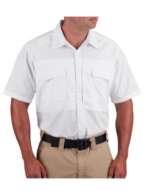 Propper® Men's Short Sleeve RevTac Shirt - Poplin White